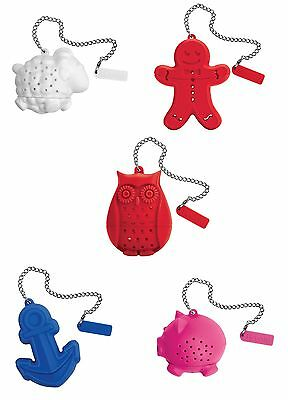 Tovolo Silicone Stainless Steel Tea Infuser Fun For Your Cup 5 Different Styles