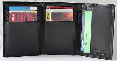 RFID Security lined  Full Grain Leather Trifold Wallet.Bargain Price.11005