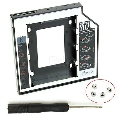 Universal 12.7mm SATA 2nd SSD HDD Hard Drive Caddy For CD DVD-ROM Optical Bay