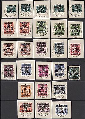 1940 Wwii Poland Germany General Government Overprint Complete Set Rare !
