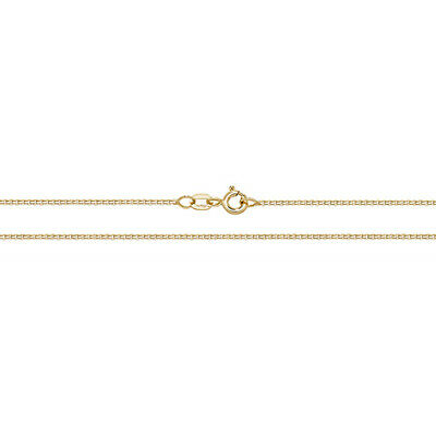 "NEW 9ct Yellow Gold Box Chain Anklet 10"" CH483 1.6 grams"