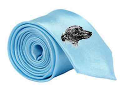 Whippet Dog Printed Image Skinny Tie by paws2print