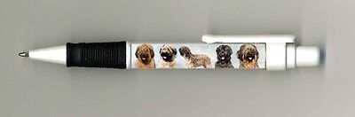 Briard Dog Design Retractable Acrylic Ball Pen by paws2print