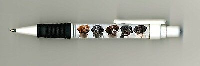 Brittany Dog Design Retractable Acrylic Ball Pen by paws2print