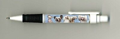 Chinese Crested Dog Design Retractable Acrylic Ball Pen by paws2print