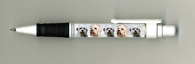 Dandie Dinmont Terrier Dog Design Retractable Acrylic Ball Pen by paws2print