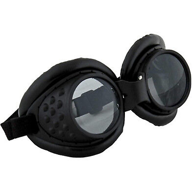 Radioactive Aviator Mad Max Apocalypse Scientist Costume Goggles Black