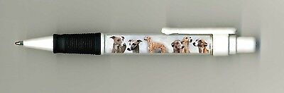 Whippet Dog Design Retractable Acrylic Ball Pen by paws2print