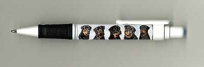 Rottweiler Dog Design Retractable Acrylic Ball Pen by paws2print