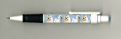 Maltese Dog Design Retractable Acrylic Ball Pen by paws2print
