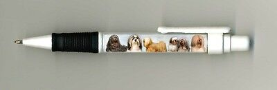 Lhasa Apso Dog Design Retractable Acrylic Ball Pen by paws2print