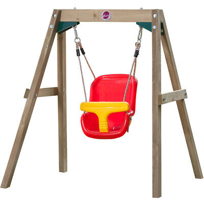 NEW Plum Wooden Baby Swing Set Plastic Seat Sustainable Timber Outdoor Play Kids