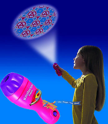 Childrens Kaleidoscope Projector Torch Coloured Shapes Optical Toy Night Light