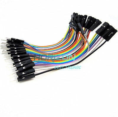 40PCS 10cm 2.54MM male to female 1P-1P Dupont wire jumpercables