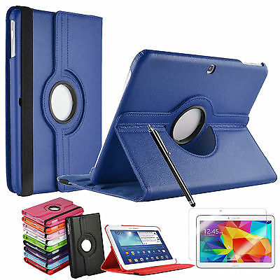 "Leather 360° Rotation Smart Stand Case Cover Samsung Galaxy Tab 4 10.1"" SM-T530"