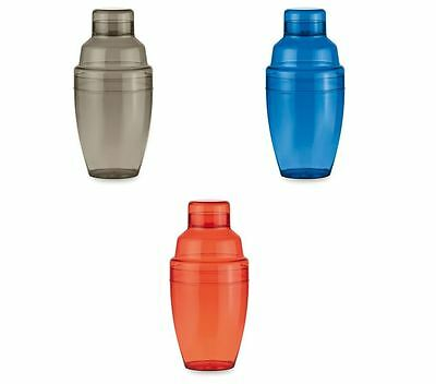 COLORATO SHAKER IN PLASTICA DA 300 ML PER BEVANDE COCKTAIL idea regalo NEW