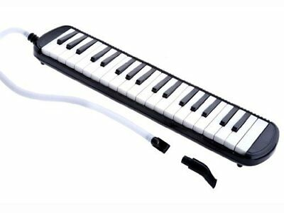 D'Luca Black 37 Key Melodica with Case, M37-BK