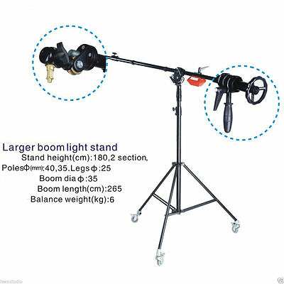 Super Heavy Duty Boom Arm STAND 6kg Counterweight wheels Rotatable Large Quality