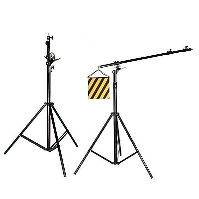 Double Heavy Duty 2-in-1 500CM Rotatable Studio Boom Stand Light Stand 7KG Load