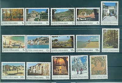 PAYSAGES - LANDSCAPES OF CYPRUS 1985 Common Stamps