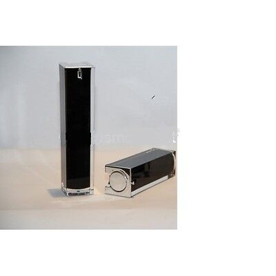 Airless Acrylic Bottles w/ pump & cover 50ml (pearl Black/Silver)