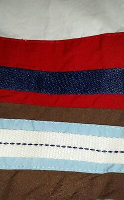REDUCED! Pottery Barn Baby JUNIOR VARSITY Crib/Toddler BedSkirt Nautical COLORS