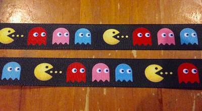 NEW Pacman 7/8 Inch Grossgrain Ribbon - One Metre - Craft or Cake