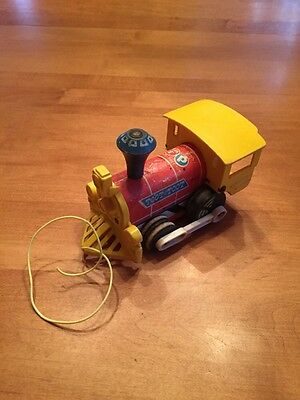 Vintage Fisher-price 643 Toot-toot Train Wood Wooden Train