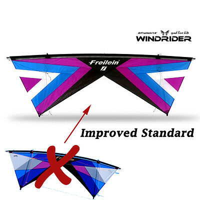 Improved Windrider Ⅱ Std 4-Line Stunt Kite Powerkites Easy Fly for Wind Game Fun