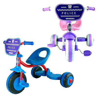 Police Bike Trike Bicycle Tricycle Toddler Kid Child 3 Wheel Car Ride On Toy