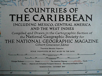 Old School Wall Map- Countries Of The Caribbean - National Geographic