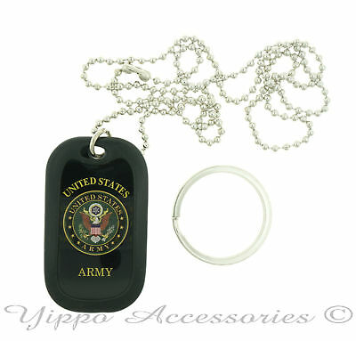 U.S. United States Army Seal Military Dog Tag Necklace / Key chain