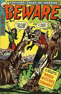 Beware 08 Comic Book Cover Art Giclee Reproduction on Canvas
