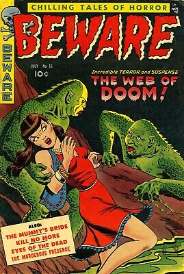 Beware 16 Comic Book Cover Art Giclee Reproduction on Canvas
