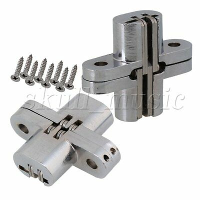 2pcs Hidden Stainless Steel Invisible Concealed Cross Hinge for Jewelry Box