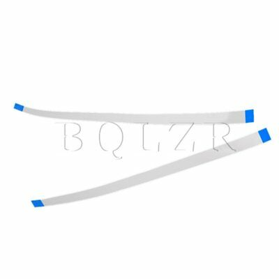 25pcs 10-Pin 1mm Pitch FFC FPC Flesible Ribbon Flat Cable Wire White Blue 0.66ft