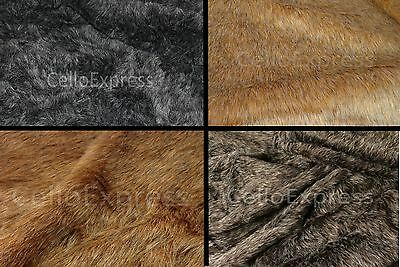 Faux Fake Animal Fur Fabric 20mm or 30mm Pile Teddy Bear & Animal Toy Craft