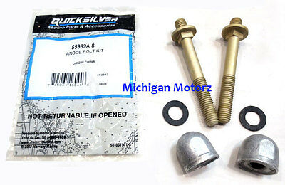 Genuine MerCruiser Alpha I, GEN II Anode Bolt Kit - 8M0030655, Replaces 55989A8