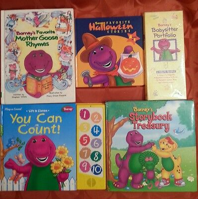 5 Barney Mother Goose HALLOWEEN Storybook Treasury YOU CAN COUNT Babysitter Book