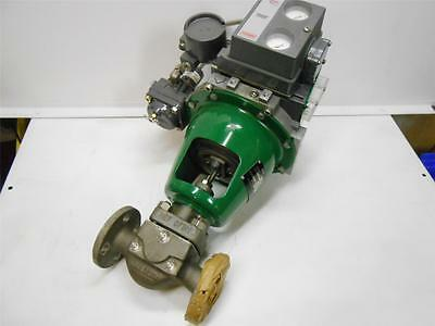 Fisher Pueumatic Valve Aefuator System 9000 W/ Fisher Dvc5000 Valve Positioner