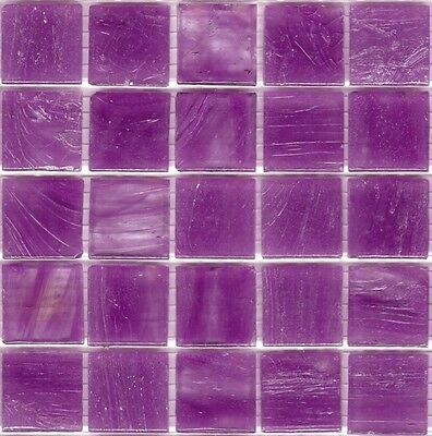 25pcs SM13 Violet Bisazza Smalto Italian Glass Mosaic Tiles 2cm x 2cm