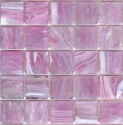 25pcs SM62 Light Pink Bisazza Smalto Italian Glass Mosaic Tiles 2cm x 2cm