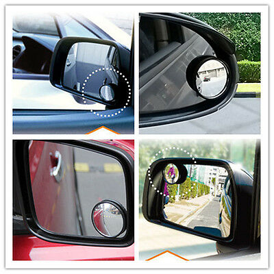 2x Car Rearview Mirror Blind Spot Side Rear View Convex Wide Angle Adjustable CI
