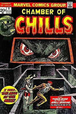 Chamber of Chills 09 Comic Book Cover Art Giclee Reproduction on Canvas