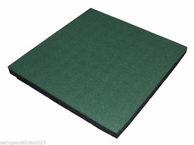 Safety Rubber Mats/tiles For Playgrounds Climbing Frames Blue Free P&p