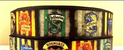 Harry Potter Hogwarts 25mm Grossgrain Ribbon - One Metre - Craft or Cake