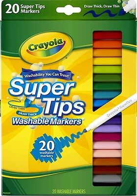Crayola 20 Pack Washable SuperTips Markers 58-8106