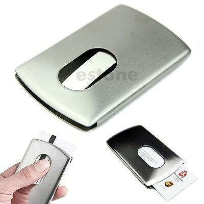 NEW Stainless Steel Wallet Business Credit ID Name Card Holder Case