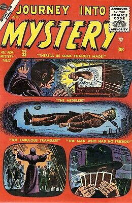 Journey Into Mystery 33 Comic Book Cover Art Giclee Reproduction on Canvas