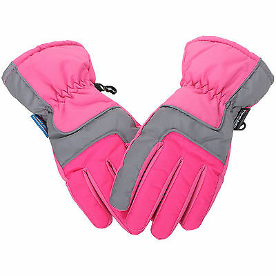 Kids Girls's Winter Warm Sports Windproof Waterproof Ski Gloves Snowboard